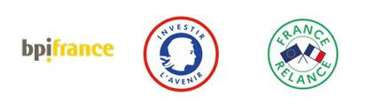 Logos BPIFrance Investissement d'avenir et France Relance