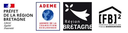 Logos Préfet de la Région Bretagne / Ademe / Région Bretagne / FB2